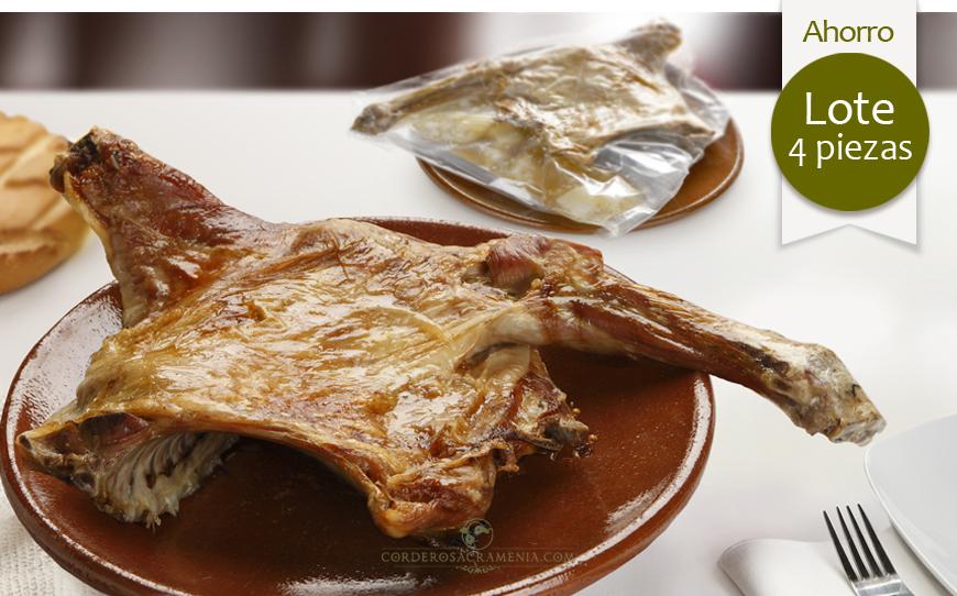 CUATRO CUARTOS de Cordero lechal asado (10/11 personas)