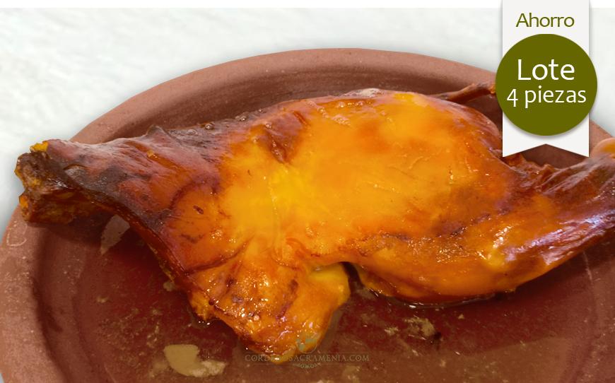 CUATRO CUARTOS de Cochinillo asado (8/9 personas)
